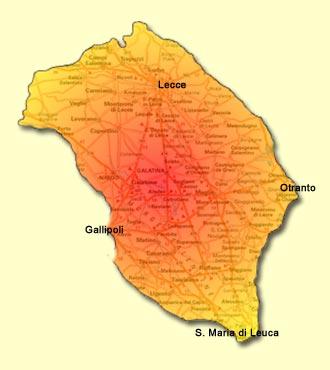 Cartina Puglia Dettagliata Pdf.Cartina Del Salento