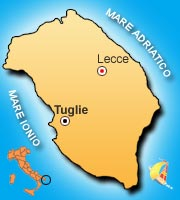 Mappa di Tuglie