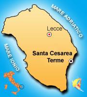 Mappa di Santa Cesarea Terme