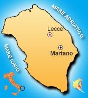 Mappa di Martano