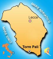 Mappa di Torre Pali