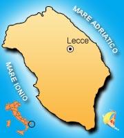 Mappa di Lecce