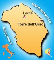 Mappa torre dell 39 orso cartina stradale villaggio residence sairon club - Specchia lecce mappa ...