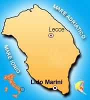Mappa di Lido Marini