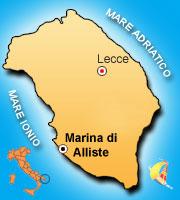 Mappa di Marina di Alliste