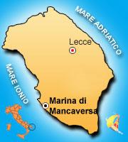 Mappa di Marina di Mancaversa