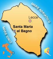 Mappa di Santa Maria al Bagno