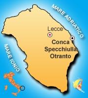 Mappa di Conca Specchiulla Otranto