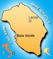 Mappa di Baia Verde