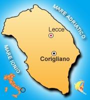 Mappa di Corigliano d'Otranto