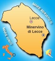 Mappa di Minervino di Lecce