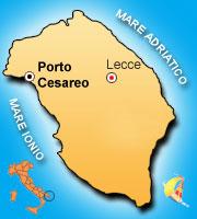 Mappa di Porto Cesareo