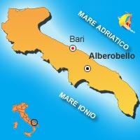 Mappa di Alberobello
