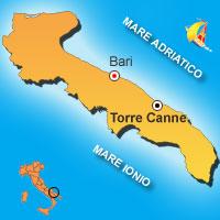 Mappa di Torre Canne