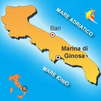Mappa di Marina di Ginosa