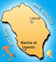 Mappa di Marina di Ugento